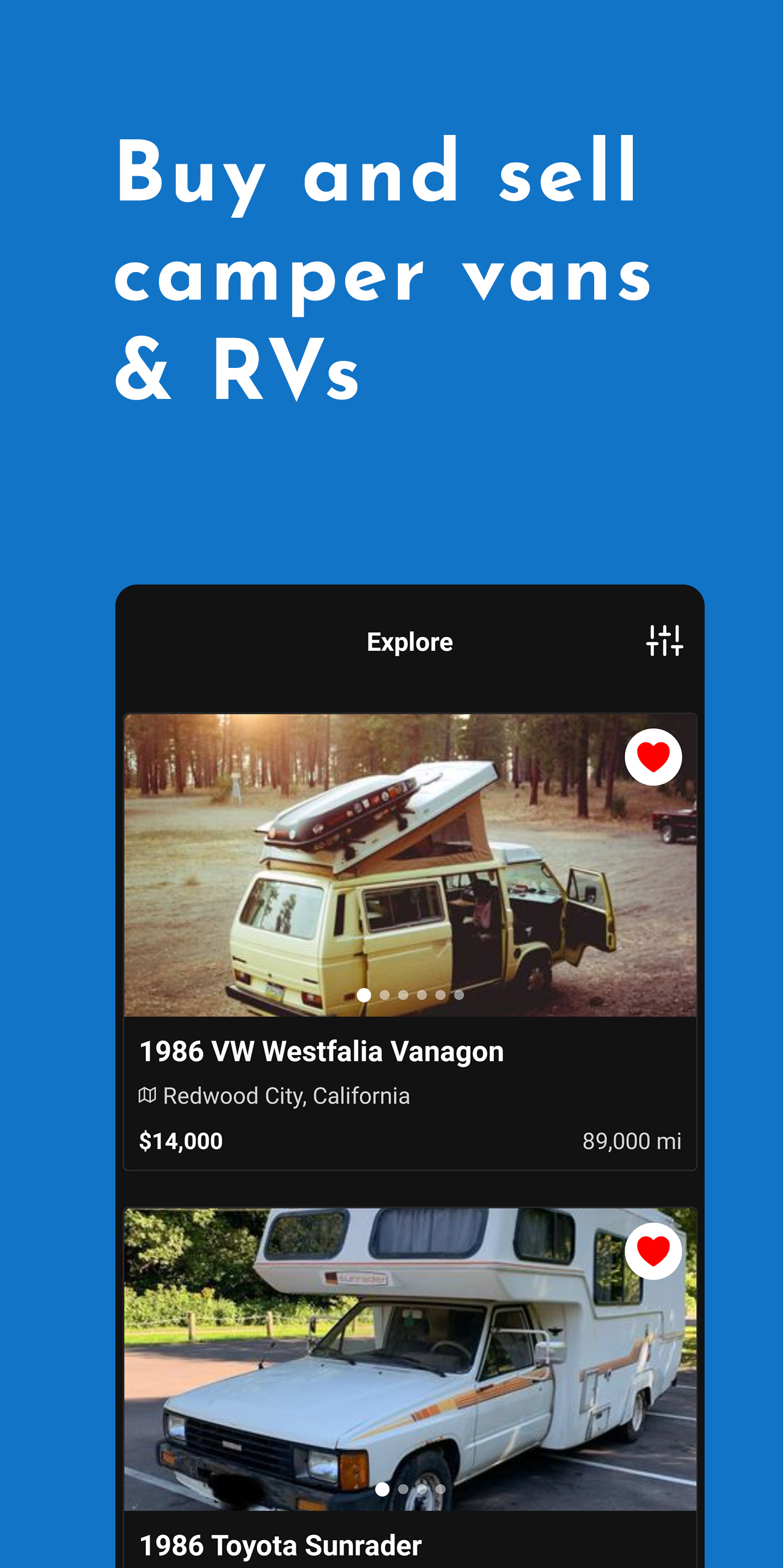 New iPhone App Helps Travelers Buy And Sell Campervans / RVs Online Image